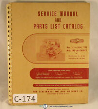 Cincinnati 2, 3 & 4, Milling Service and Parts 1955-1959 173 pages