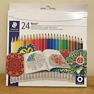 Steadler 24 Noris Erasable coloured pencils NIB School college
