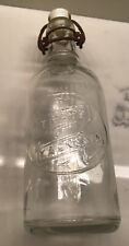 Citrate of Magnesia Bottle with Porcelain Stopper  Good Vintage Condition 8 1/4""