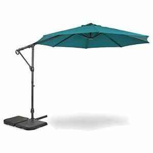 Home Zone Living 10ft Offset Cantilever Patio Umbrella Instant Up & Down Desi...