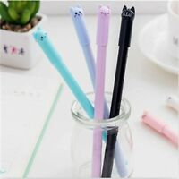 Cat Gel Pen Novelty Gifts School Stationery 0.5mm Slim Ink Pen 4Pcs Black NP2Z