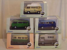 OXFORD DIECAST COLLECTION OF 5 CAMPER VANS / MINI BUS