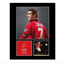 Eric Cantona Signed Photo Mount (Pre Printed Autograph) Gift For a Man Utd Fan