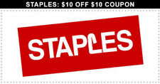 ➡️ 10X ➡️ TEN ➡️ Staples COUPON 10 off 10 In Store ➡️ ALWAYS HAVE 25 75 30 60 50