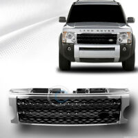Fit 05-09 Land Rover LR3 Discovery 3 Chrome/Blk Honeycomb Mesh Front Hood Grille