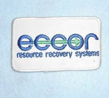 """ECCOR Patch - resource recovery systems - 4"""" x 2 1/2"""""""