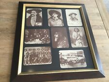 Old West Photographs Reprint Framed - Wild Bill Hickok - Annie Oakley - Custer
