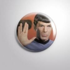 "MR. SPOCK STAR TREK LEONARD NIMOY​ - Pinbacks Badge Button 2 1/4"" 59mm"