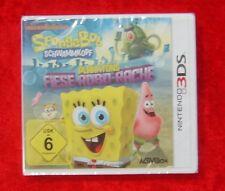 Spongebob Schwammkopf Planktons Fiese Robo-Rache, Nintendo 3D 3DS Spiel, Neu