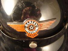 motorcycle half helmet Harley Davidson visor black style B-13 rider sport bike