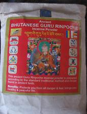 TIBETAN BUDDHIST POWDER INCIENSO DE  BHUTAN,GURU RINPOCHE BHUTANESE INCENSE