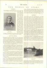 1897 Welsh Football Ben Davies pour éviter les vibrations en cycles Doolittle Frein