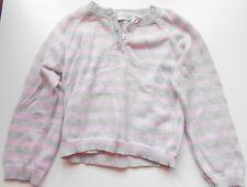 Early Days Girls 'Gris y Rosa Rayas Jumper, la edad de 12-18 meses, una vez usado