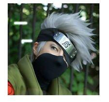 Short layered Hatake Kakashi Silver White Anime Cosplay Wig WJY78