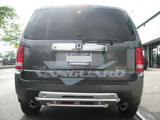 """VANGUARD 30"""" CHROME DOUBLE LAYER REAR BUMPER PROTECTOR HITCH STEP S/S"""