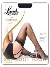 Levante Collant Donna - Vanessa 20 Calze 20 den ideale per Reggicalze Naturel 2