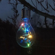 LED Solar Panel Powered Bulb Light Outdoor Garden Decoration Hanging Lamp