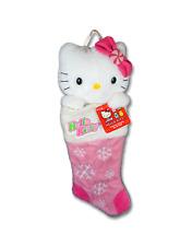 Kurt Adler Sanrio Hello Kitty Pink Snowflake Christmas Plush Stocking