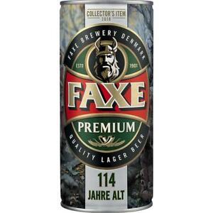 12 Dosen Faxe Danish Premium Lager Bier 1,0L inc. 3,00€ EINWEG Pfand