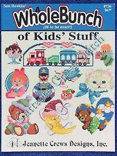 Cross Stitch Pattern Kids Stuff 36 Motif Car Clown Duck