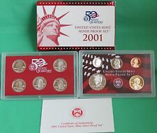 2001 United States Mint ANNUAL 10 Coin SILVER Proof Set Free Shipping in the USA