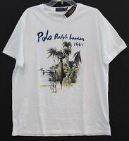 Polo Ralph Lauren Mens White Camouflage Tropical Cotton T-Shirt NWT Size XL