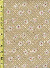 Butterscotch plaid feedsack Quilt fabric 100% Cotton- 1/2 yard(18
