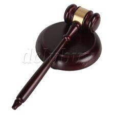 Decent Color Wood Gavel Sound Block Base Set for Lawyer Judge Auction