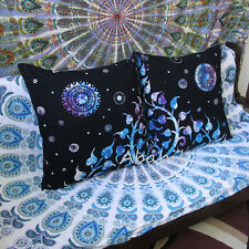 "24X24"" Cushion Pillow Covers 2 Pieces Set Hippie Tie Dye Indian Room Decor Throw"