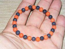 Mountain Jade Red & Black Gemstone Bracelet 6mm A Grade Beads (HM31E)