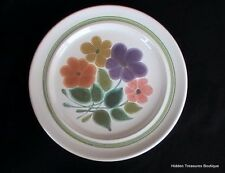 Franciscan Earthenware Floral Dinner Plate Green Band Beautiful