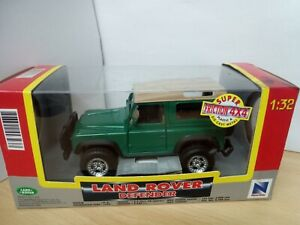 P159-NEWRAY SUPER FRICTION 4X4 LAND ROVER DEFENDER AND BOX.1:32 SCALE