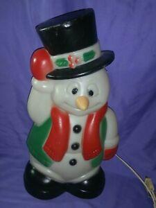 "VTG TPI PLASTICS FROSTY SNOWMAN BLOWMOLD CHRISTMAS TABLETOP DECOR 18"" #024816-1"