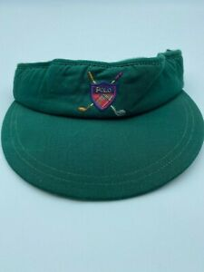 Polo By Ralph Lauren Vintage  Visor Hat Cap Made in USA Green Forest New
