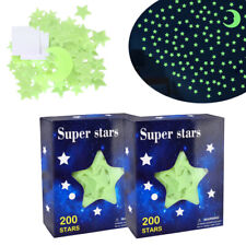 400 Count Ultra Glow in the Dark Stars w/2 Bonus Moon Room Ceiling Wall Stickers