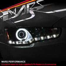 CCFL Angel Eyes & DRL LED Day-Time Head Lights Headlight MITSUBISHI LANCER 07-17
