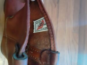 *VINTAGE RED WING 296 BOOTS SIZE 13E .pecos with tags..side tag