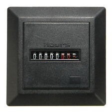 220~240V Car Installation Operating Hours Counter Timer Hour Meter Square Gauge