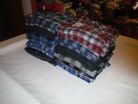 Big & Tall Men;s Flannel Shirts Sonoma & Croft & Barrow Multi Plaid 100% cotton