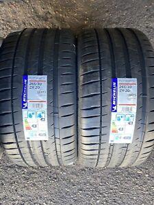 2x  Michelin Pilot Sport 4S  265/30/20  94Y XL 2653020  265 30 20  NEW TYRES