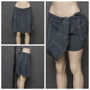 Athleta Gray Petite Size 6 Skort Attached Skirt