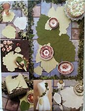 Vogue Craft Sewing Pattern LEAF TABLE TOP PACKAGE Placemat Napkin Coaster # 7491