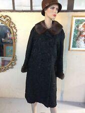 cappotto persiano autentico vintage pelliccia donna collo di visone
