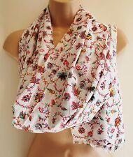 New Cotton Shawl Scarf - Hippy Boho Ethnic Fair Trade India Flowers
