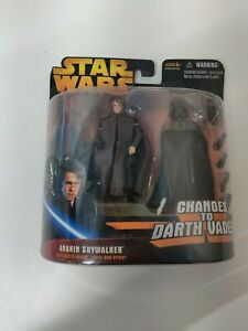 """Star Wars Revenge of the Sith Anakin Skywalker Changes To Darth Vader """"NEW"""""""