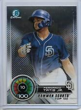 2018 Bowman Fernando Tatis Jr. Chrome Bowman Scouts' Top 100 Insert Card