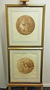 Francesco Bartolozzi (1727-1815) Pair of 18th century, Sanguine Engravings