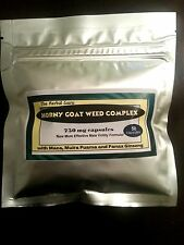 Horny Goat Weed  Complex with Maca, Muira Puama & Panax Ginseng 50 caps 750mg