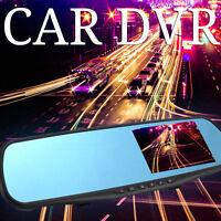 "HD 1080P Car DVR 2.8"" Video Recorder Dash Cam Rearview Mirror Camera Recorder UK"