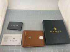 Judd's NEW Cross Excalibur Mens Tan Leather Wonder Wallet #AC299-2